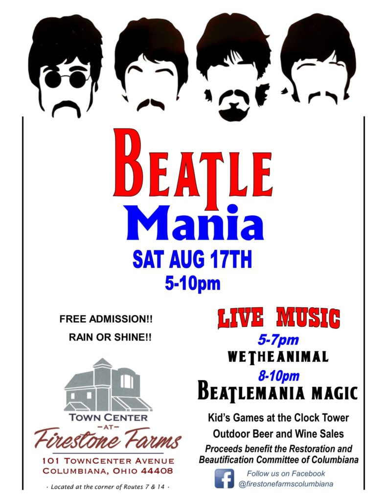 BEATLEMANIA 2019 FLYER