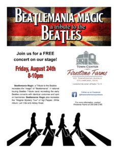 Beatlemania Magic at Firestone Farms 2018